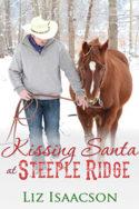 Kissing Santa at Steeple Ridge by Liz Isaacson