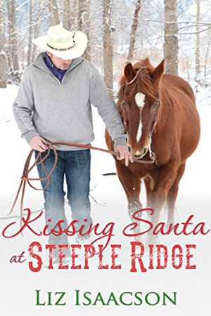 Kissing Santa at Steeple Ridge by Liz Isaacson
